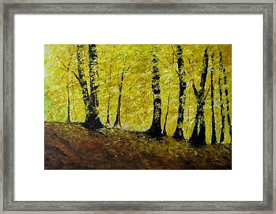 Wind Among Trees Framed Print by Vicki Conlon