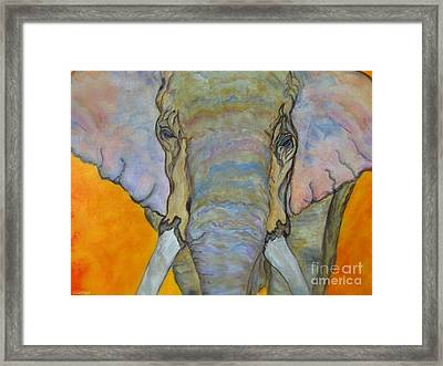 Wind And Fire - Fine Art Painting Framed Print by Ella Kaye Dickey