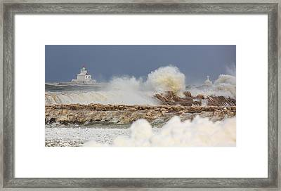 Wind And Ice Framed Print by Everet Regal