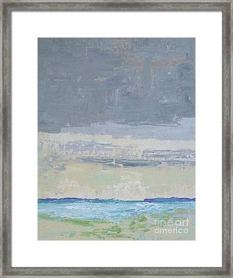Wind And Rain On The Bay Framed Print by Gail Kent