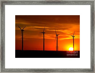 Framed Print featuring the photograph Wind And Solar 1 by Jim McCain