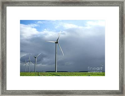 Wind And Storm Framed Print by Olivier Le Queinec