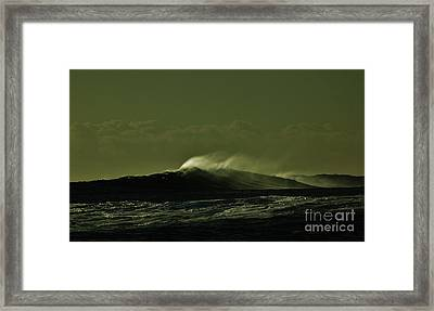 Wind And Waves Framed Print