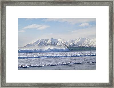 Wind And Waves On Kodiak Framed Print by Tim Grams