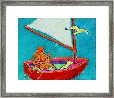 Wind Beneath My Wings I Framed Print by Xueling Zou