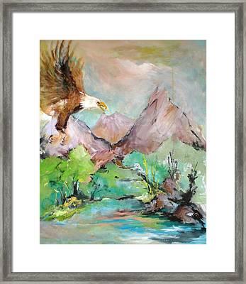 Wind Beneath My Wings Framed Print by Mary Spyridon Thompson