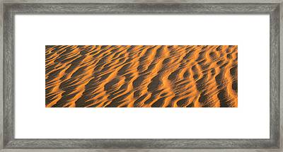 Wind Blown Sand Tx Usa Framed Print by Panoramic Images