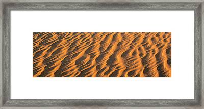 Wind Blown Sand Tx Usa Framed Print