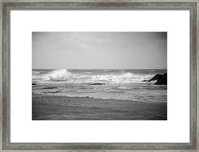 Wind Blown Waves Tofino Framed Print by Roxy Hurtubise