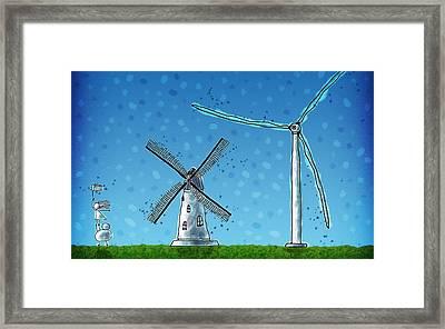 Wind Blows Framed Print