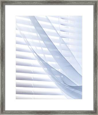 Wind Blue Window Framed Print