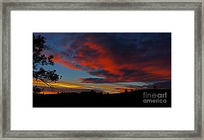 Black Hills Sunset Framed Print