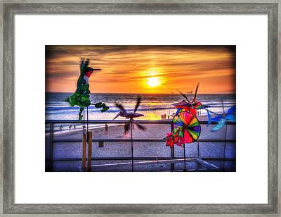 Wind Chimes At Sunset Framed Print