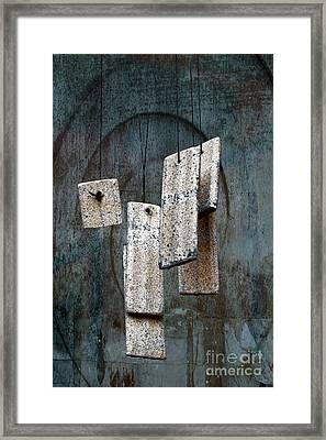 Wind Chimes Framed Print by Ellen Cotton