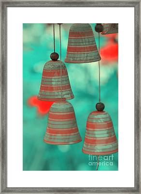 Wind Chimes Framed Print by Kathleen Struckle