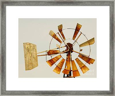 Wind Driven Rust Machine Framed Print by Robert Frederick