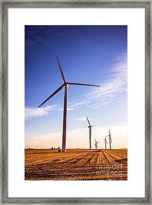 Wind Energy Windmills Picture Framed Print