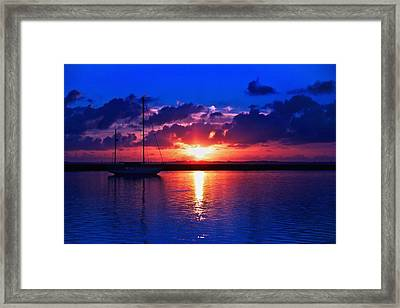 Wind Fall Sunrise Framed Print
