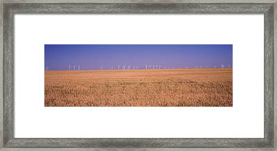 Wind Farm At Panhandle Area, Texas, Usa Framed Print by Panoramic Images