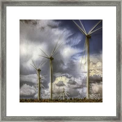 Wind Farm Framed Print by Jean OKeeffe Macro Abundance Art