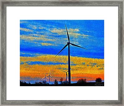 Wind  Generators Framed Print