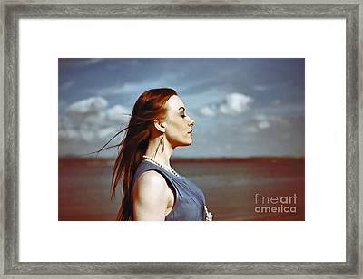 Wind In Her Hair Framed Print by Craig B