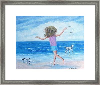 Wind In My Hair Framed Print