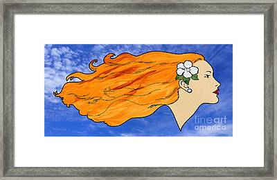 Wind In My Hair Framed Print by Methune Hively