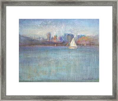 Wind In My Sails Framed Print by Quin Sweetman