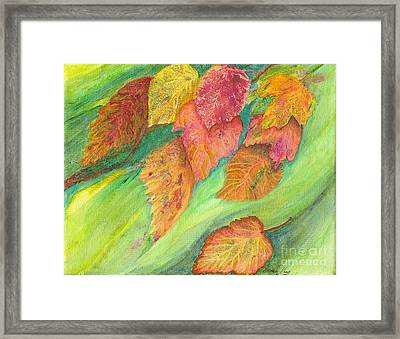 Wind In The Leaves Framed Print