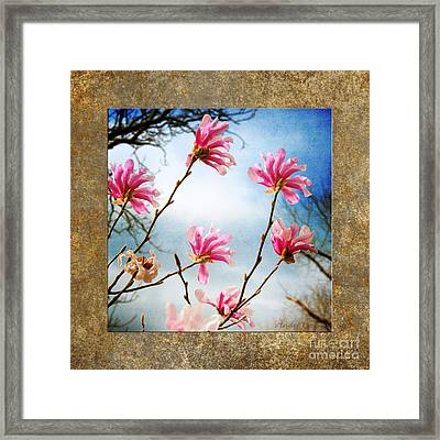 Wind In The Magnolia Tree Square Framed Print by Andee Design