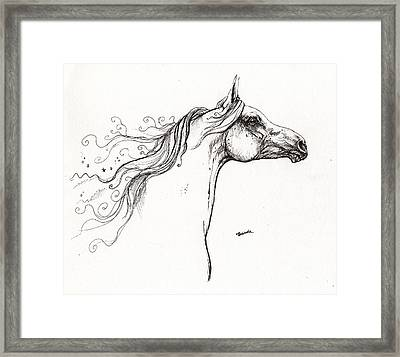 Wind In The Mane 1 Framed Print by Angel  Tarantella