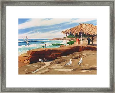 Wind 'n Sea Beach La Jolla California Framed Print by Mary Helmreich