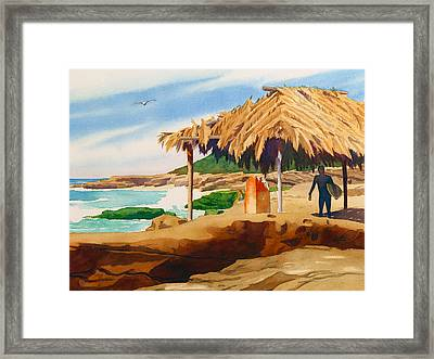 Wind 'n Sea Beach La Jolla Framed Print by Mary Helmreich