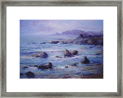 Wind On The Surf Framed Print by R W Goetting
