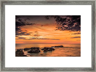 Wind Point Sunrise Framed Print