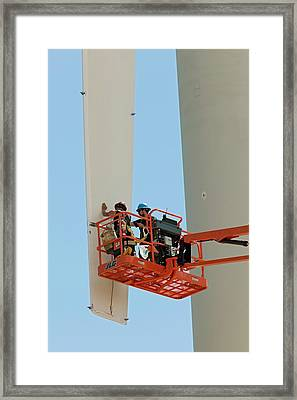 Wind Power Research Framed Print