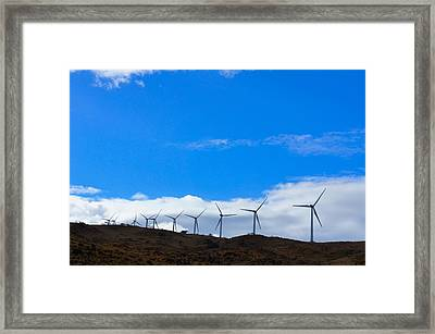 Wind Power Framed Print by Art Spectrum