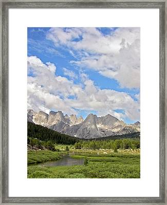 Wind River Mountains Framed Print by Jim West