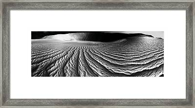 Wind Sand Light And Time Framed Print