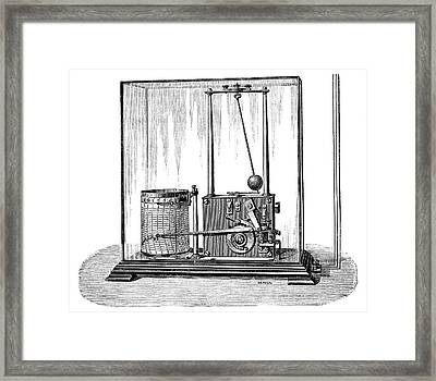 Wind Speed And Direction Recorder, 1889 Framed Print by Science Photo Library