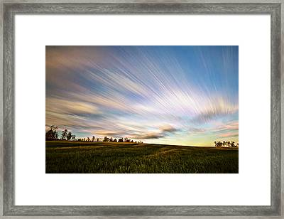Wind Stream Streaks Framed Print