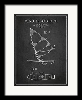 Wind Surfing Art Framed Prints