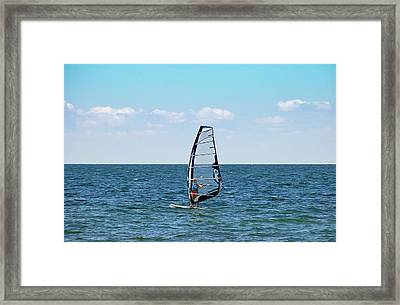 Wind Surfer Framed Print by Aimee L Maher Photography and Art Visit ALMGallerydotcom