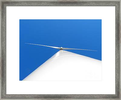 Wind Turbine Blue Sky Framed Print