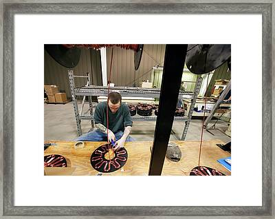Wind Turbine Manufacturing Framed Print by Jim West