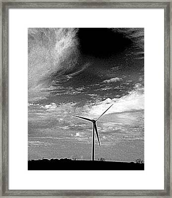 Wind Turbine Framed Print by Maria Scarfone