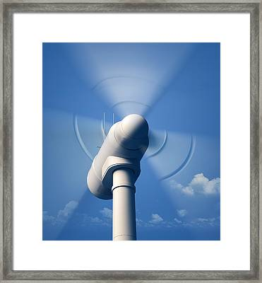 Wind Turbine Rotating Close-up Framed Print by Johan Swanepoel