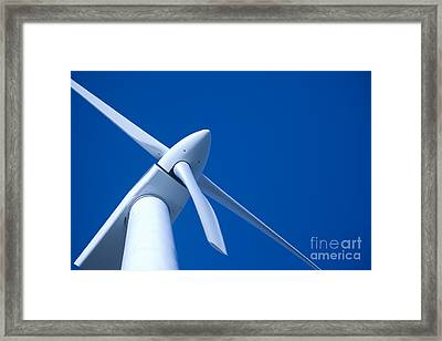 Wind Turbine Tungsten Framed Print by Colin and Linda McKie