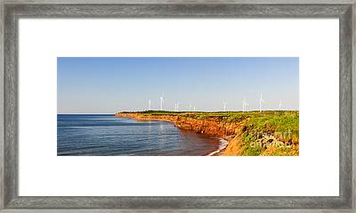 Wind Turbines On Atlantic Coast Framed Print